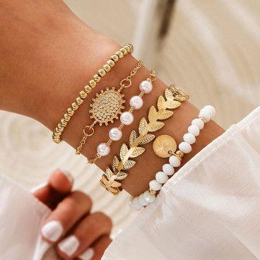 SELENA BRACELET : Ensemble de 5 Bracelets Bohème Chic