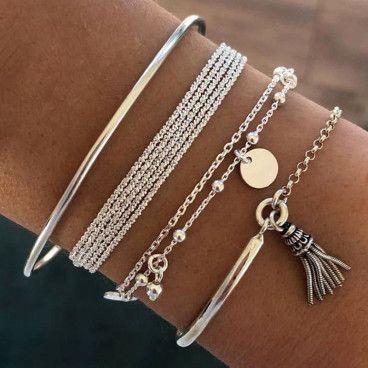 ARIANA BRACELET : Ensemble de 4 Bracelets Ethniques