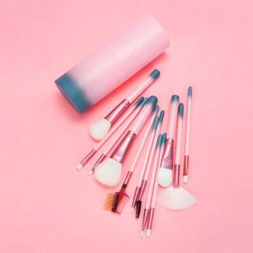 PROFESSIONAL MAKEUP BRUSHES : Set de 12 Pinceaux de Maquillage avec Étui
