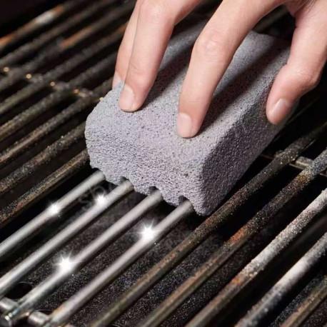 BLOCK GRILL - Pierre Ponce Abrasive de Nettoyage pour Barbecue et Cuisine