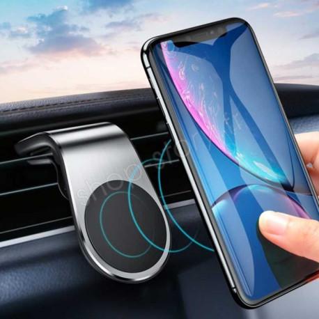 MAGNET MOUNT : Support Magnétique pour Smartphone et GPS avec Fixation Grille d'Aération