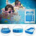 SUPER NANO : 10 Patchs de Réparations Imperméables pour Piscines, Bouées, Matelas