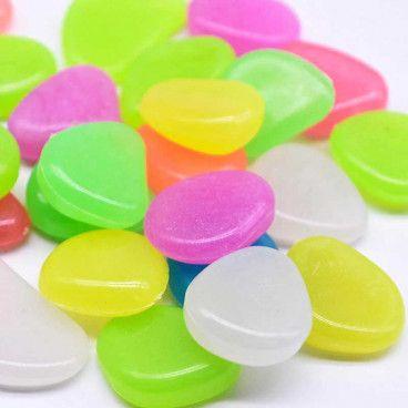 PHOSPHOSTONES : 100 Galets Fluorescents de Décoration