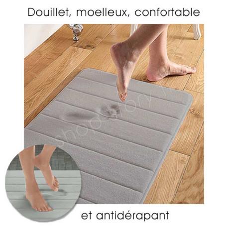 Tapis De Bain à Mémoire de Forme Ultra Confortable pour Salle-de-Bain