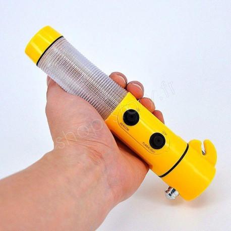 Lampe Torche Magnétique Multifonction 4 en 1 Pour votre Sécurité en Voiture