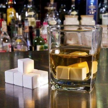 Pierres À Whisky White Edition - Glaçons En Pierre Pour Rafraichir Sans Diluer Champagne Pastis Vodka Gin