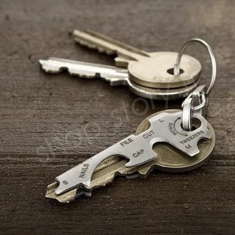KeyTool Porte Clés Outils Multifonction KeyTool avec Décapsuleur Tournevis et autres