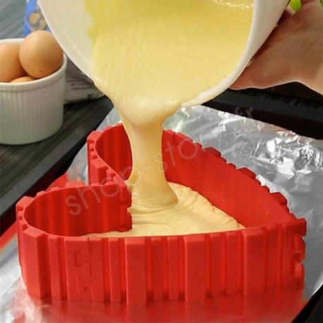 Magique Moule à Gâteau Modulable en Silicone (4pcs)