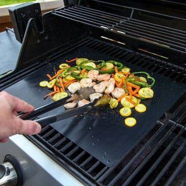 Feuille de Cuisson BBQ Antiadhésive et Réutilisable pour Plancha Barbecue