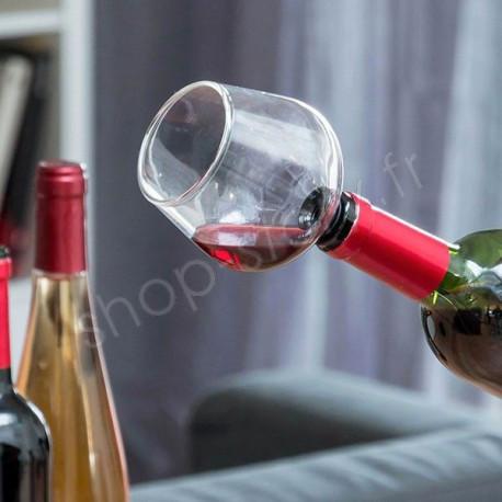 Bouchon de Bouteilles en Forme Verre de Vin