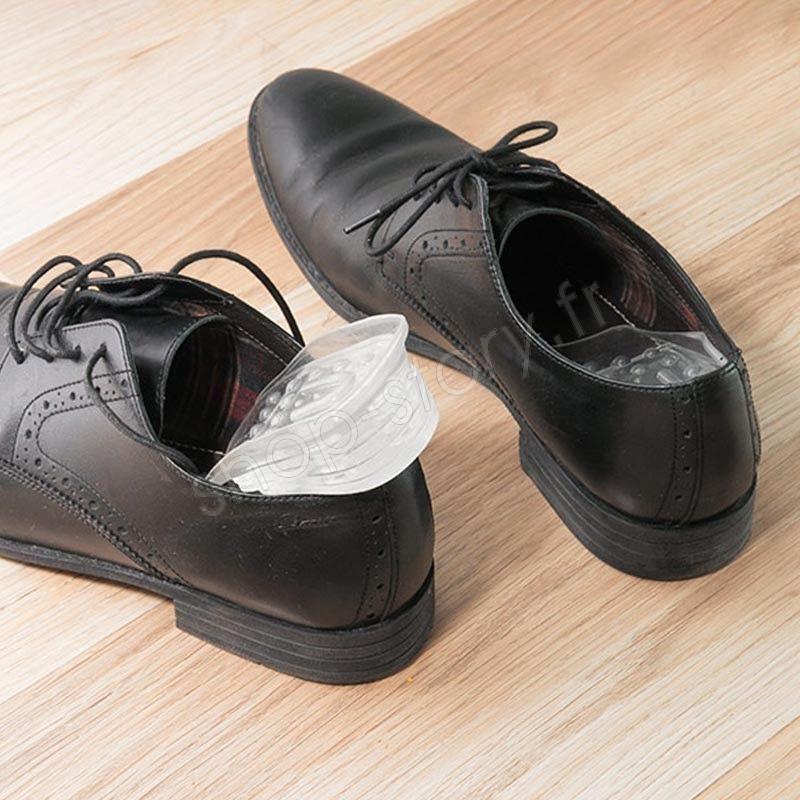 Paire de Semelle Talonnette Discrète Grandissante Rehaussante Chaussure Silicone