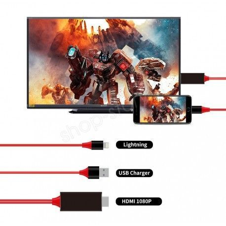 Câble HDMI Convertisseur Audio Vidéo pour iPhone et iPad pour visualiser ses contenus
