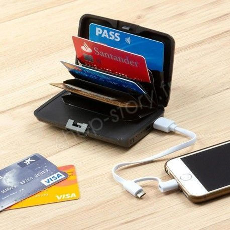 Porte-Cartes de Sécurité et Power Bank