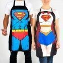 Tablier de cuisine Super Héros (Superman, Supergirl)