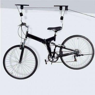 Support Lève Vélo de Plafond + Fixations et Crochet