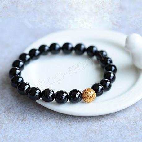 Bracelet « maitrise et anti-stress » en Onyx noir