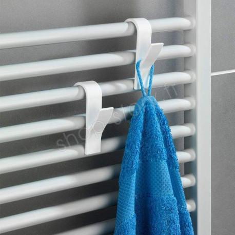 Pack de 6 Porte-serviettes pour Radiateur de Salle de Bain