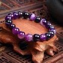 """Bracelet """"Spiritualité"""" en Agates Violette"""