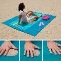 SAND FREE MAT : Serviette de Plage Drap Anti-Sable avec Crochet - 150 x 200 cm
