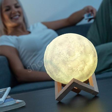 3D Lampe de chevet LED 15cm Lampe de lune avec contrôle tactile pour les enfants