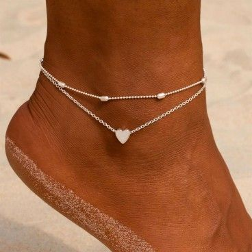 Bracelet double chaine pour cheville