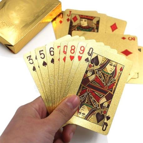 Jeu de 54 cartes plaquées or – 24 Carats
