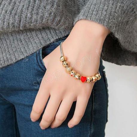 Bracelet Emoji plaqué or