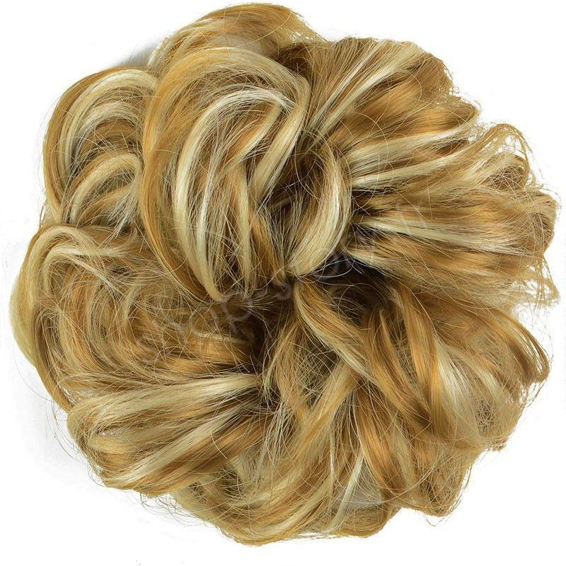 Chignon magique Ajustable Mélange blond cendré