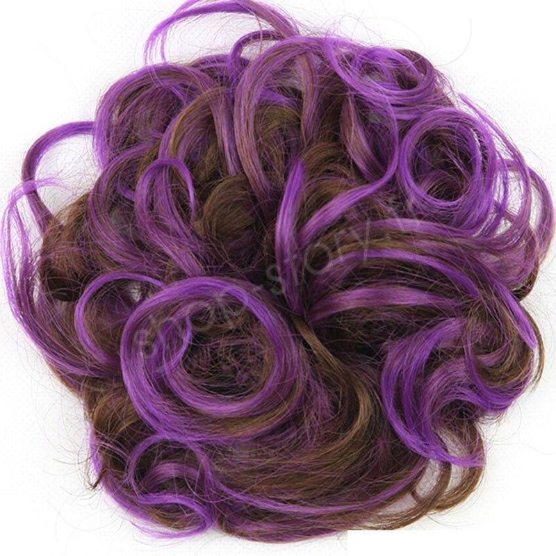 Chignon magique Ajustable Marron violet