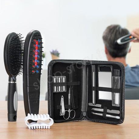 Brosse électrique anti-chute de cheveux avec accessoires