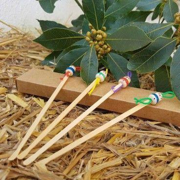 10 oriculis en bambou