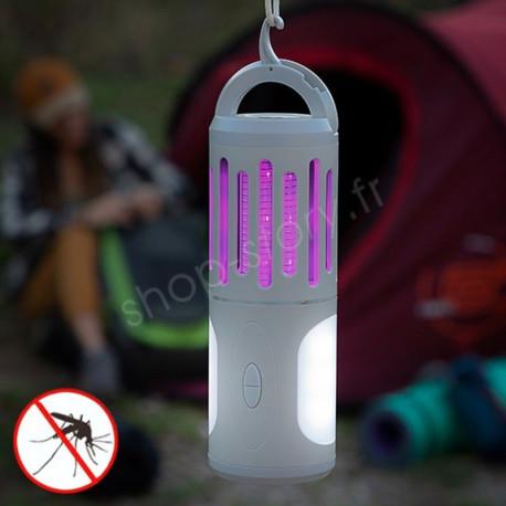 Lampe anti-moustiques 3 en 1 : répulsif, lanterne et lampe torche