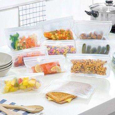 Pack de 10 sacs alimentaires réutilisables