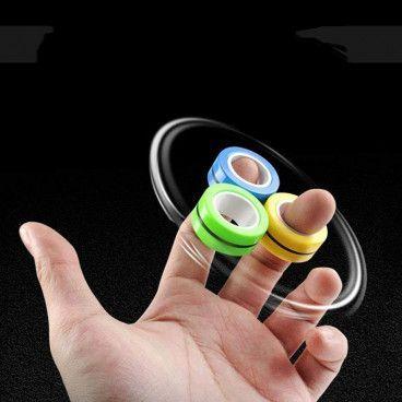 ROLLING FINGERS : 3 Anneaux Magnétiques Anti-Stress