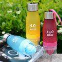 H2O WATER : Bouteille Détox Avec Infuseur de Fruits - 650 ML