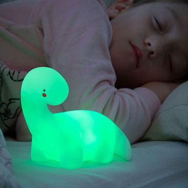 Lampe LED multicolore dinosaure