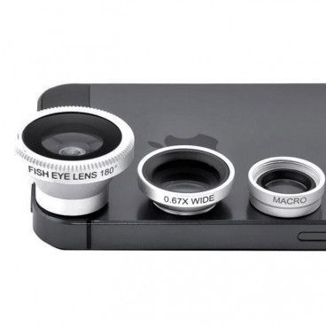Objectif Universel 3-en-1 pour Smartphone Tablette Iphone Ipad Samsung HTC