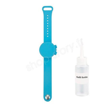 PROTECTBAND : Bracelet en Forme de Montre, Distributeur de Gel Désinfectant