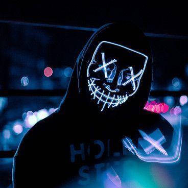 Masque LED de film d'horreur - La Purge