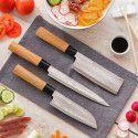 DAMAS : Jeu de 3 Couteaux de Cuisine Japonais