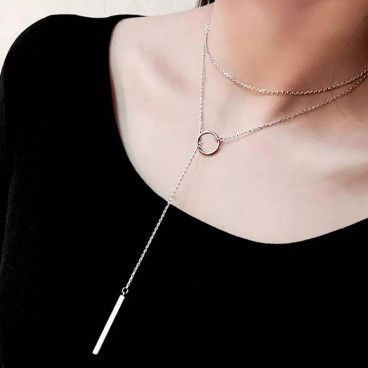 CIRCLE NECKLACE : Collier Lasso Coulissant Or ou Argent