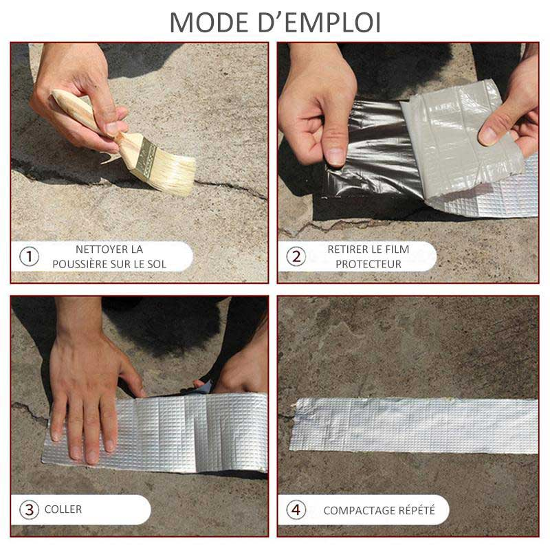 Mode d'emploi de l'Aluminium Tape